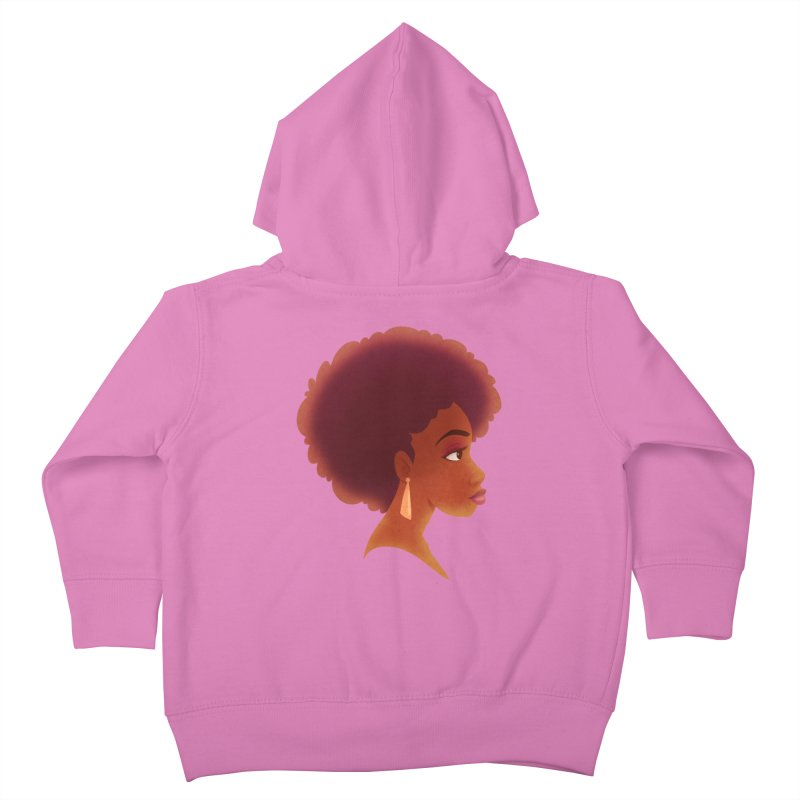 Woman in Profile Kids Toddler Zip-Up Hoody by satruntwins's Artist Shop