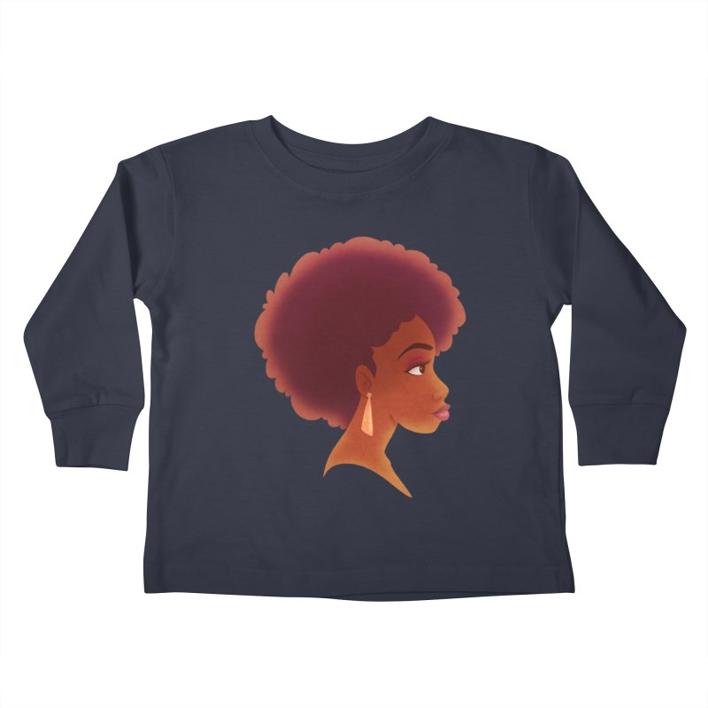 Woman in Profile Kids Toddler Longsleeve T-Shirt by satruntwins's Artist Shop