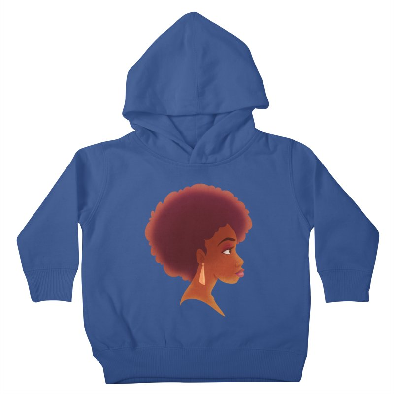 Woman in Profile Kids Toddler Pullover Hoody by satruntwins's Artist Shop