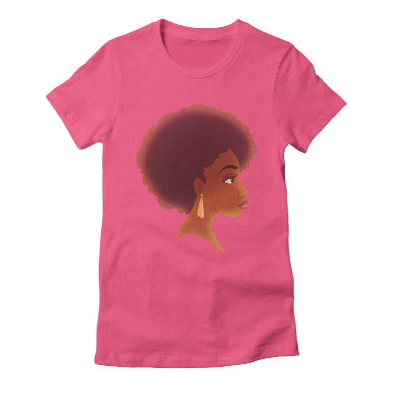 Woman in Profile Women's Fitted T-Shirt by satruntwins's Artist Shop