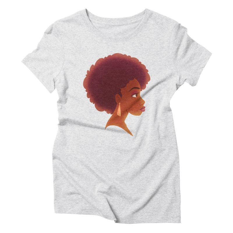 Woman in Profile Women's Triblend T-shirt by satruntwins's Artist Shop