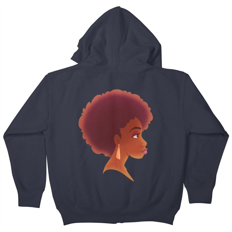 Woman in Profile Kids Zip-Up Hoody by satruntwins's Artist Shop