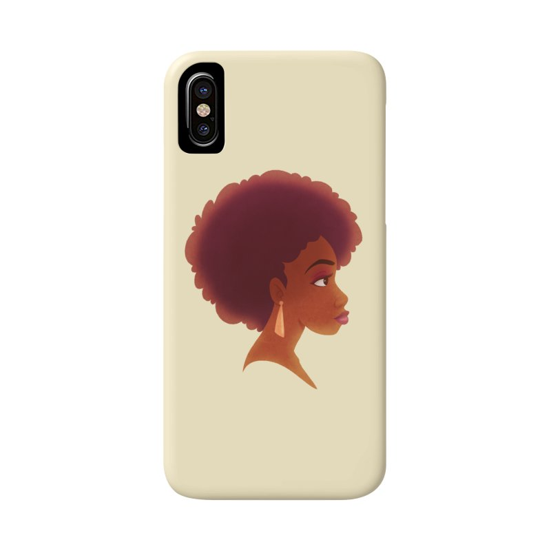 Woman in Profile Accessories Phone Case by satruntwins's Artist Shop