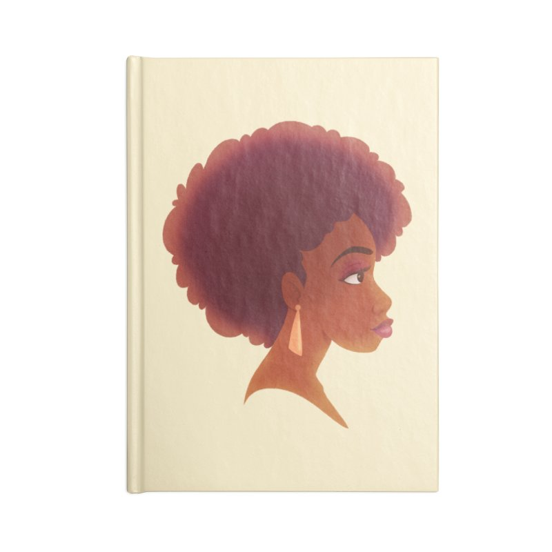 Woman in Profile Accessories Notebook by satruntwins's Artist Shop