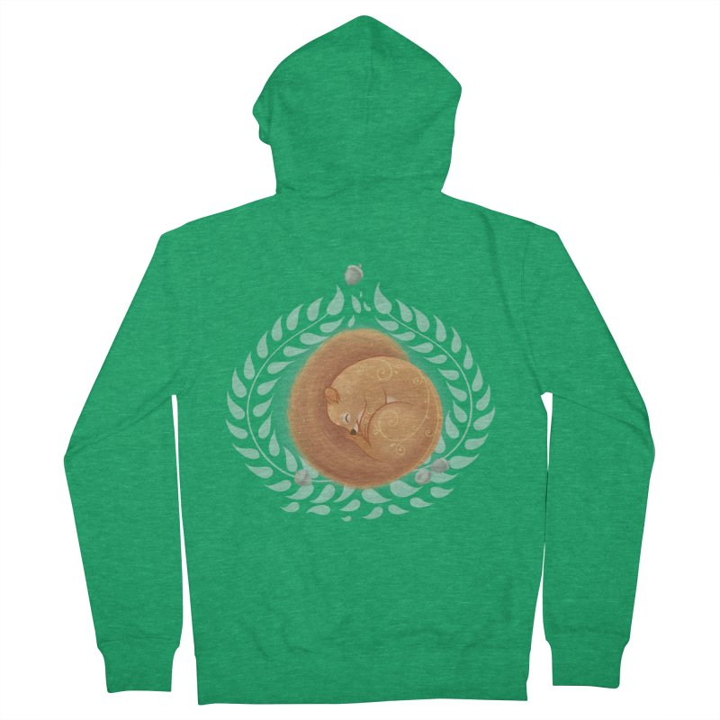 Sleeping Squirrel Men's Zip-Up Hoody by satruntwins's Artist Shop