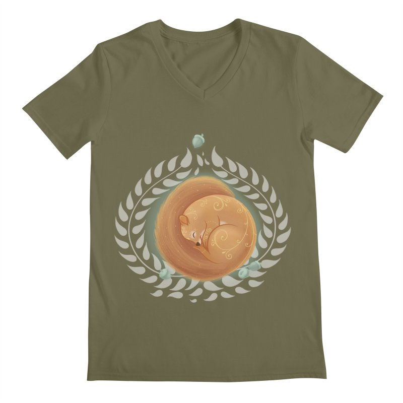 Sleeping Squirrel Men's V-Neck by satruntwins's Artist Shop