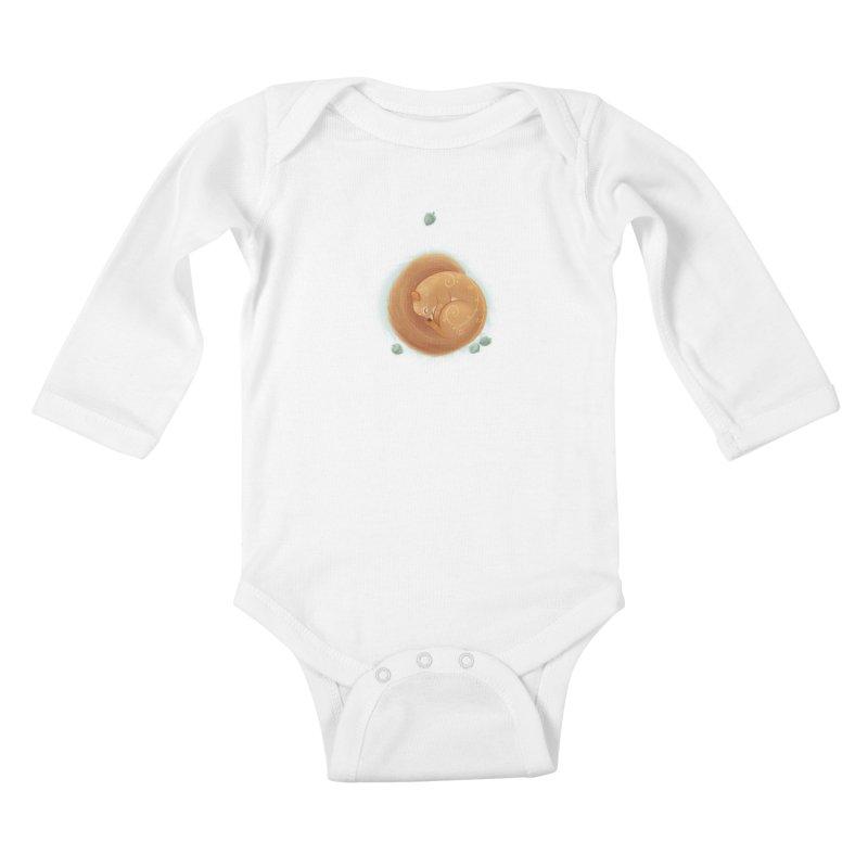 Sleeping Squirrel Kids Baby Longsleeve Bodysuit by satruntwins's Artist Shop