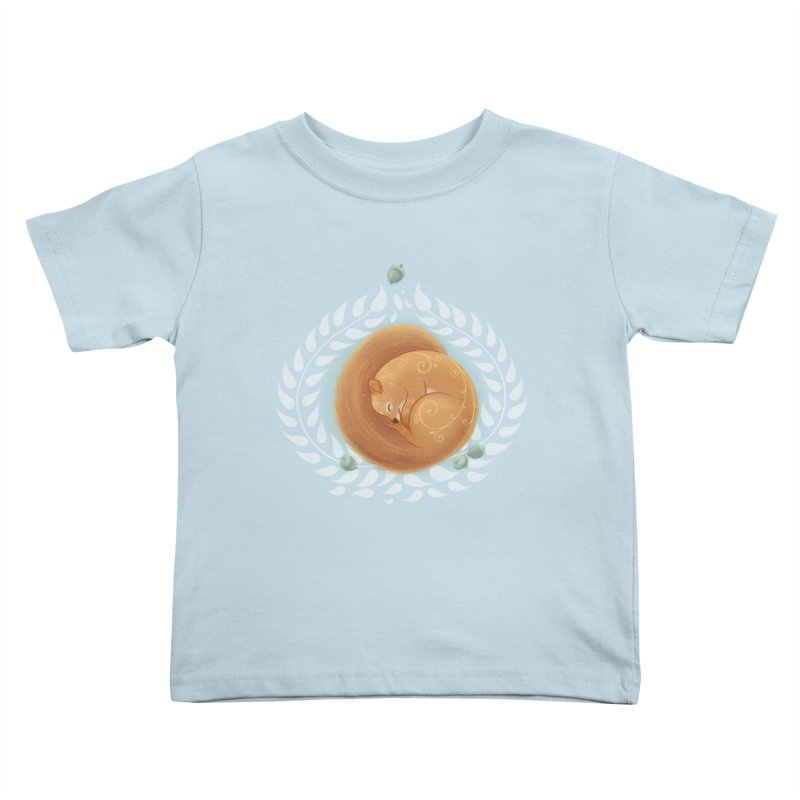 Sleeping Squirrel Kids Toddler T-Shirt by satruntwins's Artist Shop