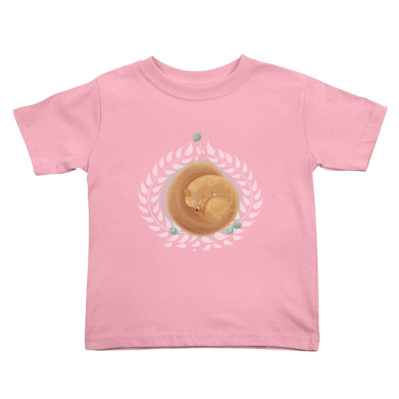 Sleeping Squirrel Kids Toddler T-Shirt by satruntwins's Artist Shop
