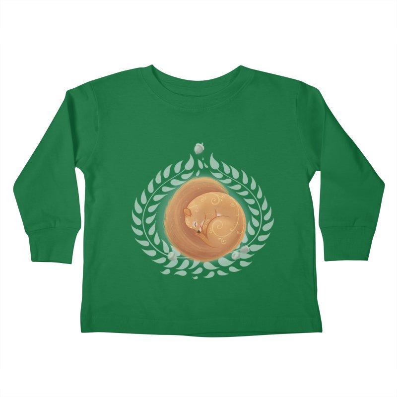 Sleeping Squirrel Kids Toddler Longsleeve T-Shirt by satruntwins's Artist Shop