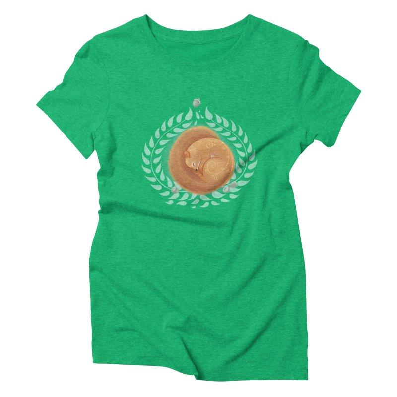 Sleeping Squirrel Women's Triblend T-shirt by satruntwins's Artist Shop