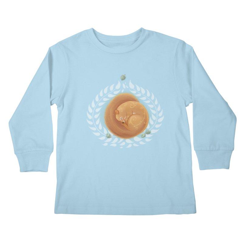 Sleeping Squirrel Kids Longsleeve T-Shirt by satruntwins's Artist Shop