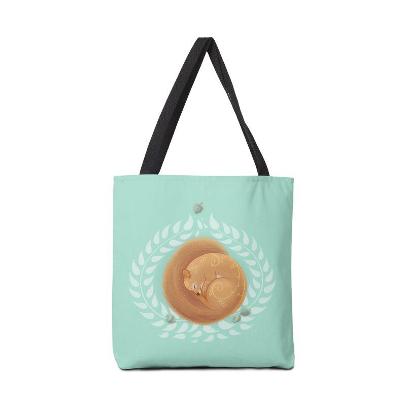 Sleeping Squirrel Accessories Bag by satruntwins's Artist Shop