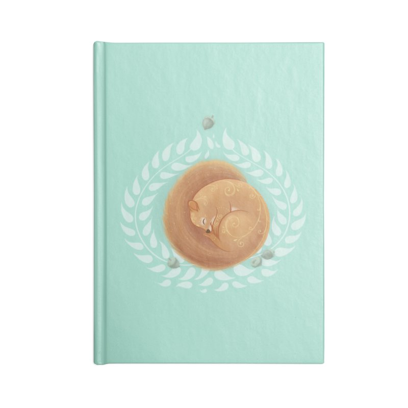 Sleeping Squirrel Accessories Notebook by Saturn Twins
