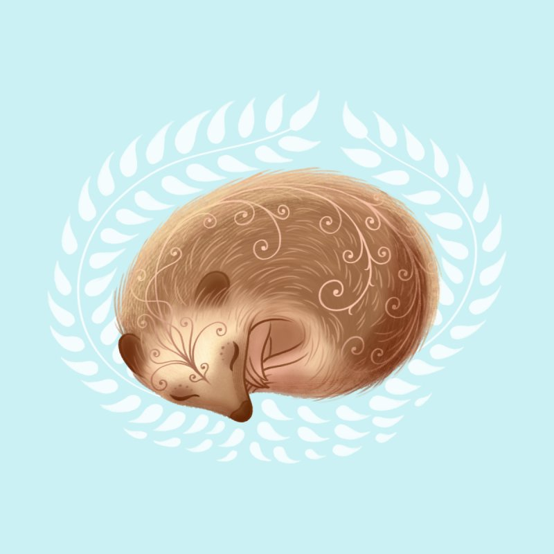 Sleeping Hedgehog by satruntwins's Artist Shop