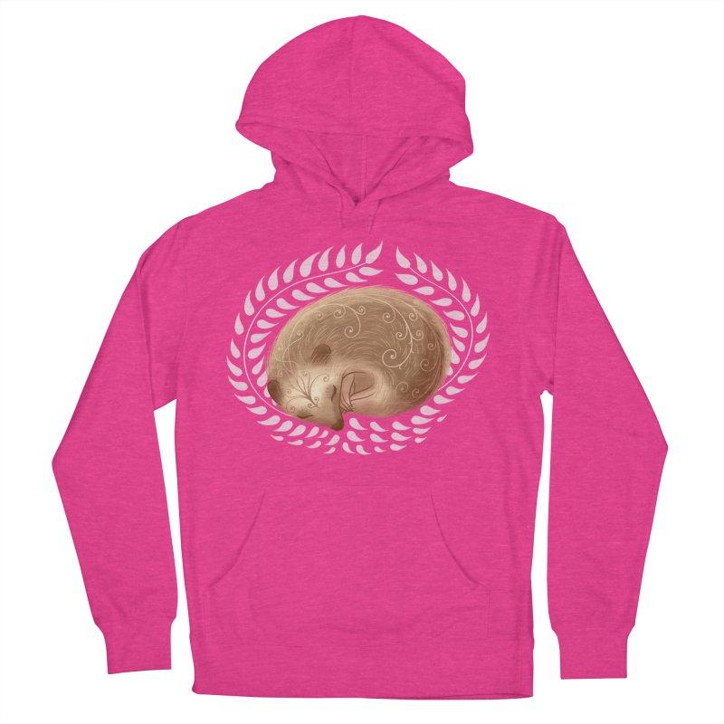 Sleeping Hedgehog Women's Pullover Hoody by satruntwins's Artist Shop