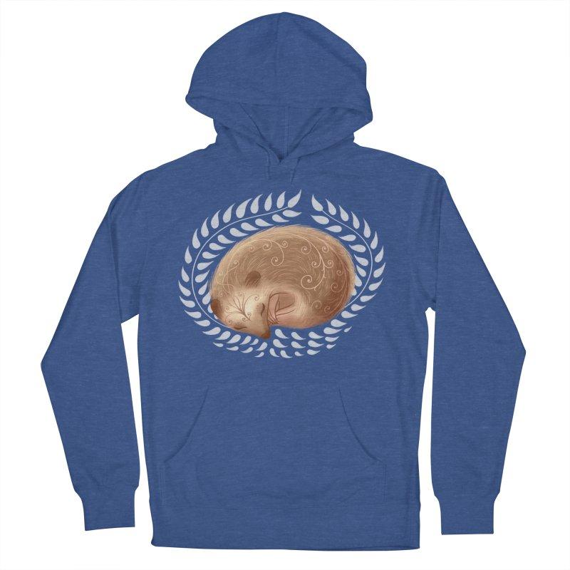 Sleeping Hedgehog Men's Pullover Hoody by satruntwins's Artist Shop