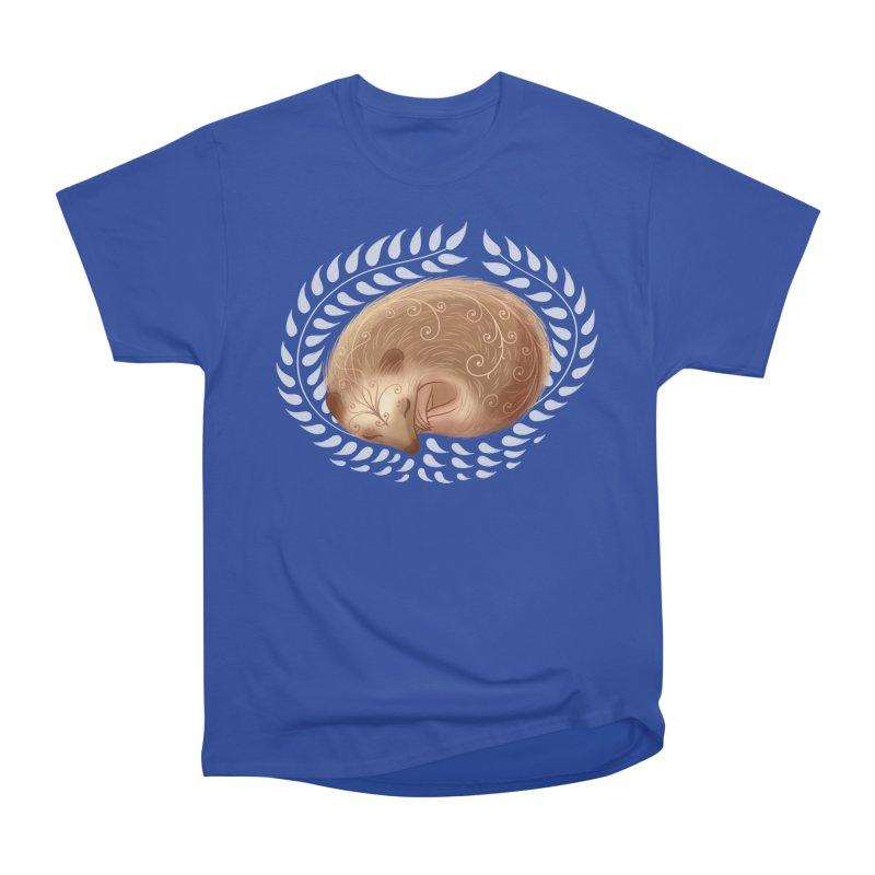 Sleeping Hedgehog Women's Heavyweight Unisex T-Shirt by satruntwins's Artist Shop