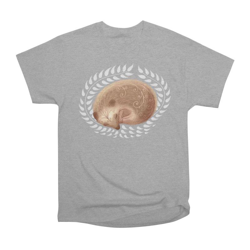 Sleeping Hedgehog Men's Heavyweight T-Shirt by satruntwins's Artist Shop