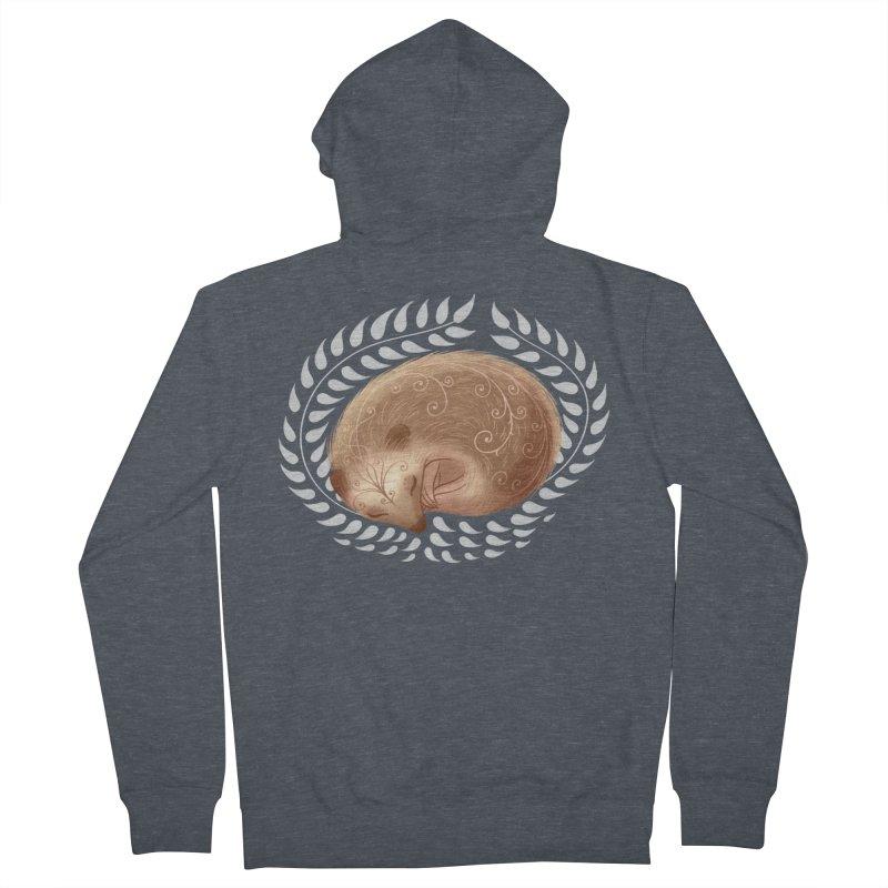 Sleeping Hedgehog Women's Zip-Up Hoody by satruntwins's Artist Shop