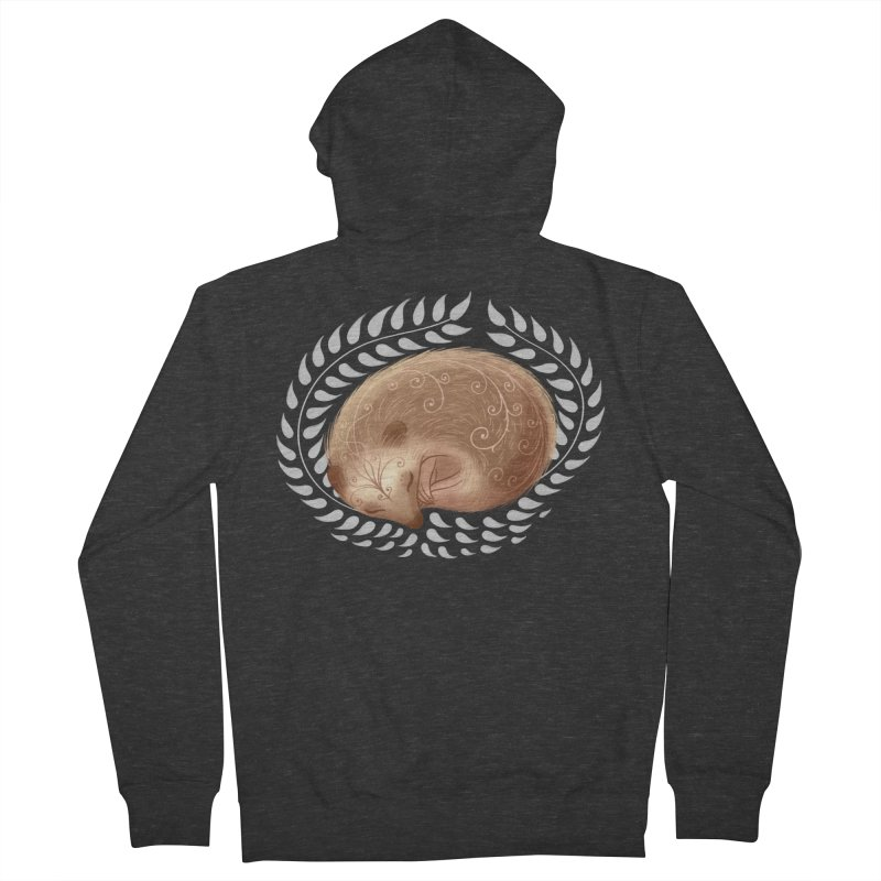 Sleeping Hedgehog Men's Zip-Up Hoody by satruntwins's Artist Shop