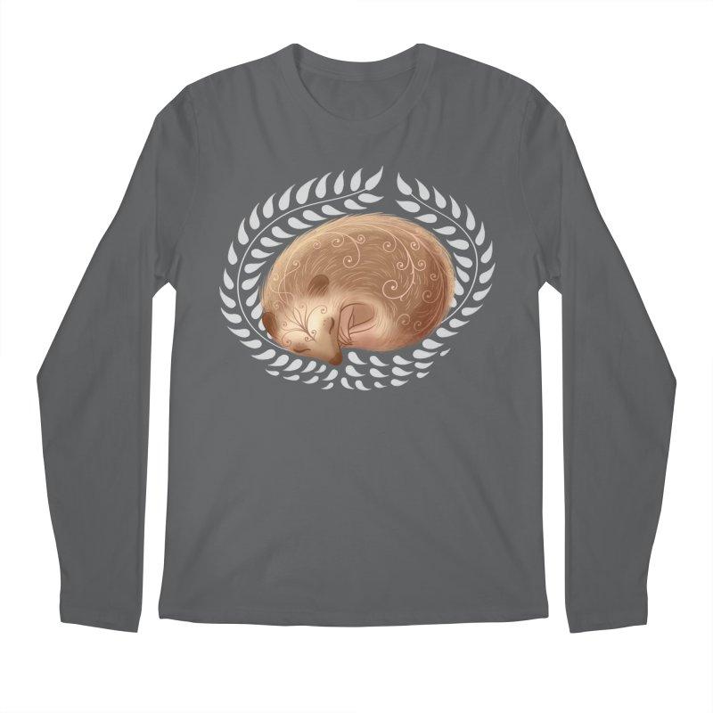 Sleeping Hedgehog Men's Longsleeve T-Shirt by satruntwins's Artist Shop