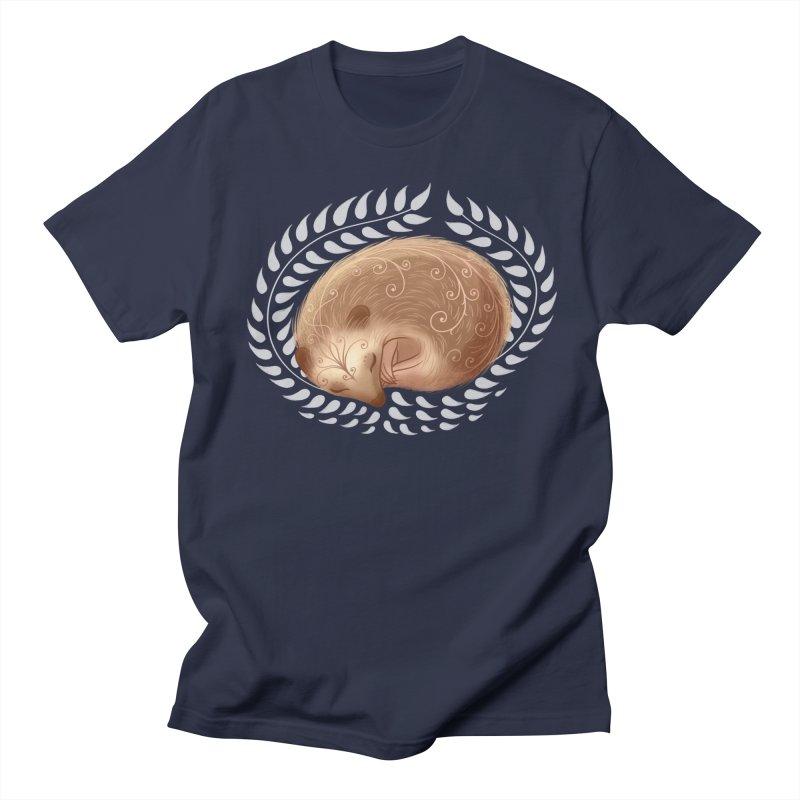 Sleeping Hedgehog Men's T-Shirt by satruntwins's Artist Shop