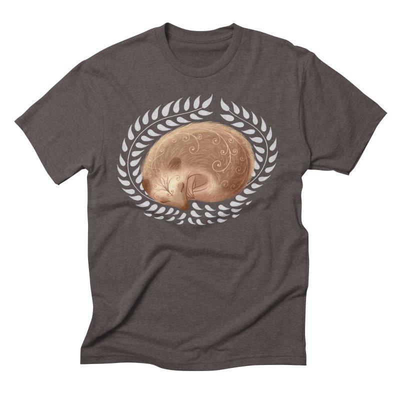 Sleeping Hedgehog Men's Triblend T-Shirt by satruntwins's Artist Shop