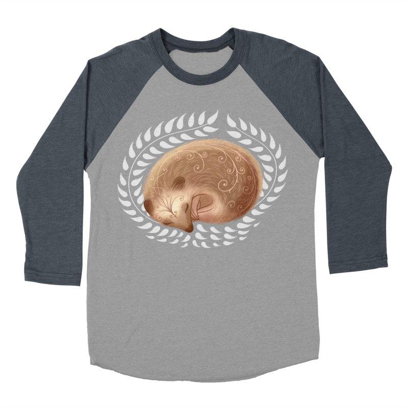 Sleeping Hedgehog Men's Baseball Triblend T-Shirt by satruntwins's Artist Shop