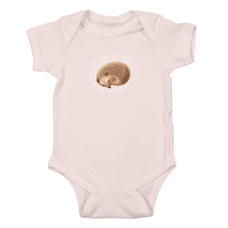 Sleeping Hedgehog Kids Baby Bodysuit by satruntwins's Artist Shop