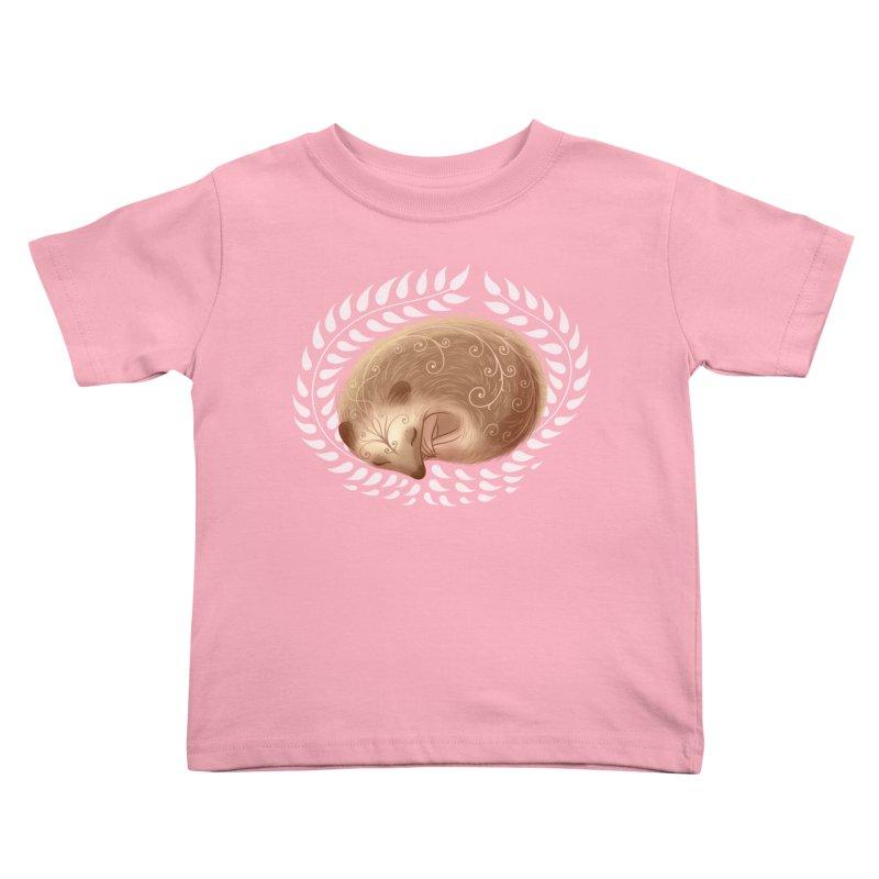 Sleeping Hedgehog Kids Toddler T-Shirt by satruntwins's Artist Shop