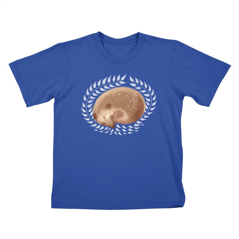 Sleeping Hedgehog Kids T-Shirt by satruntwins's Artist Shop