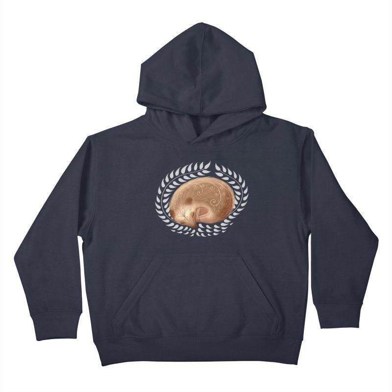 Sleeping Hedgehog Kids Pullover Hoody by satruntwins's Artist Shop