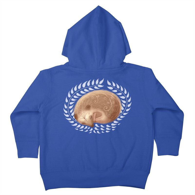 Sleeping Hedgehog Kids Toddler Zip-Up Hoody by satruntwins's Artist Shop