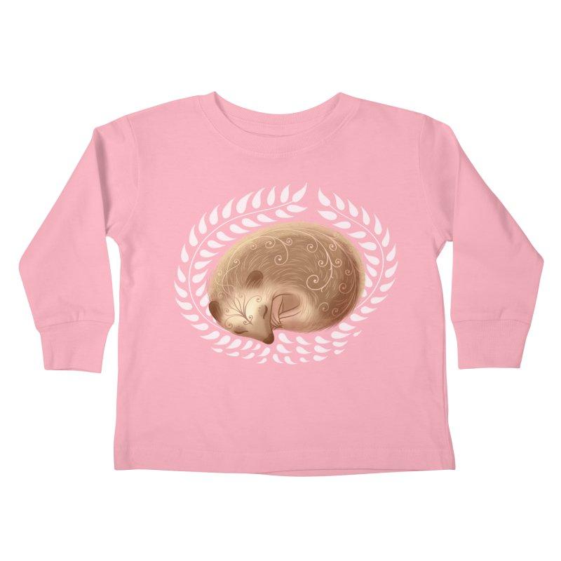 Sleeping Hedgehog Kids Toddler Longsleeve T-Shirt by satruntwins's Artist Shop