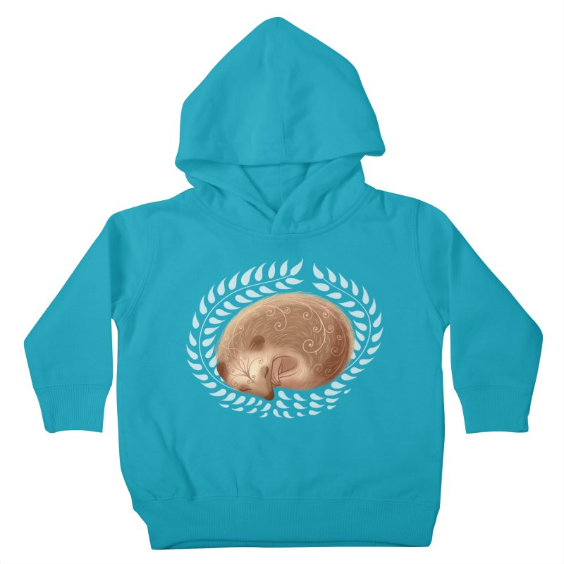 Sleeping Hedgehog Kids Toddler Pullover Hoody by satruntwins's Artist Shop