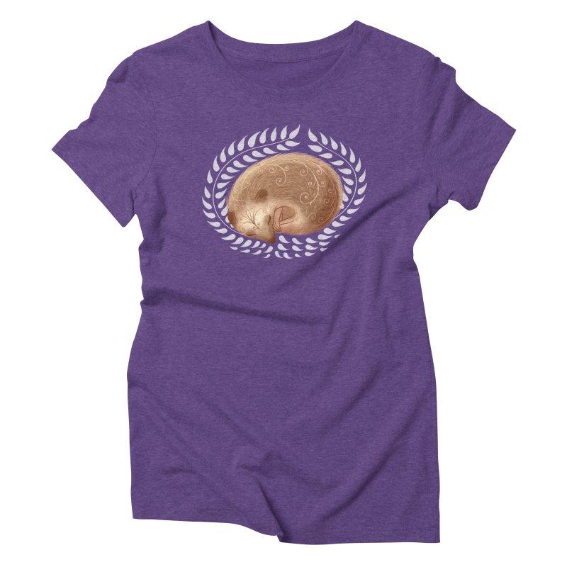 Sleeping Hedgehog Women's Triblend T-shirt by satruntwins's Artist Shop