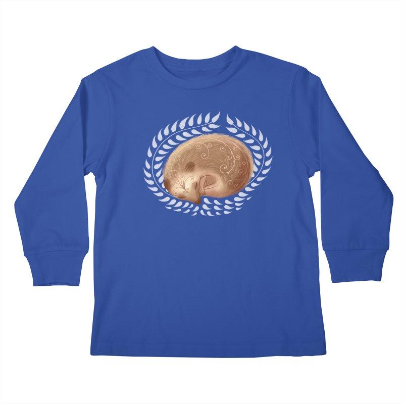 Sleeping Hedgehog Kids Longsleeve T-Shirt by satruntwins's Artist Shop