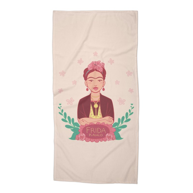 Frida Accessories Beach Towel by satruntwins's Artist Shop
