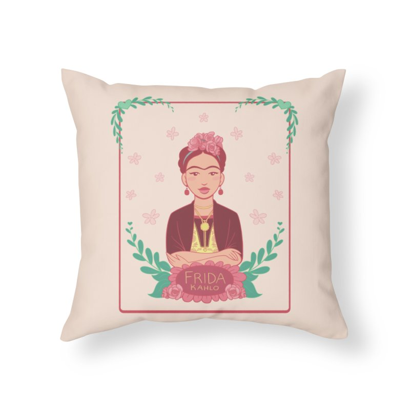 Frida Home Throw Pillow by satruntwins's Artist Shop