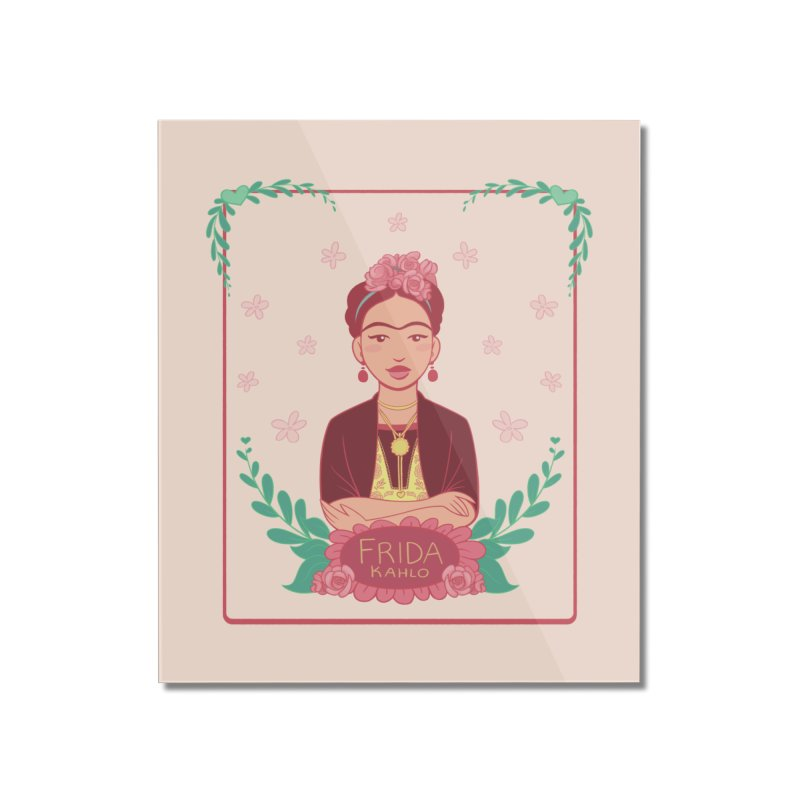 Frida Home Mounted Acrylic Print by Saturn Twins