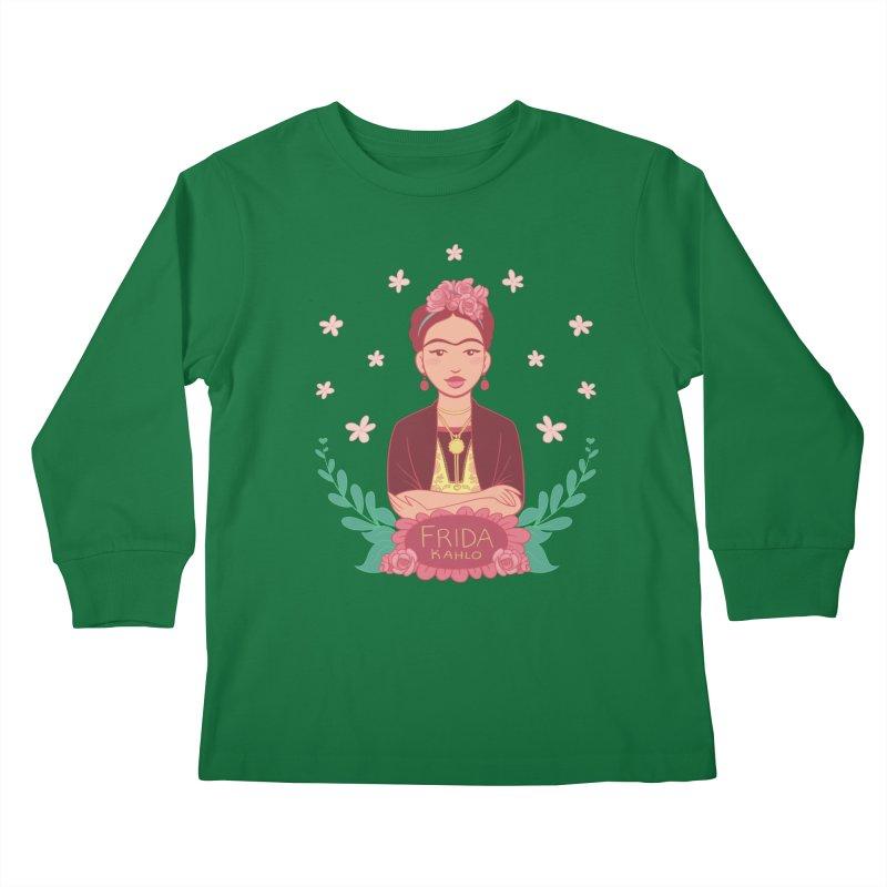 Frida Kids Longsleeve T-Shirt by satruntwins's Artist Shop