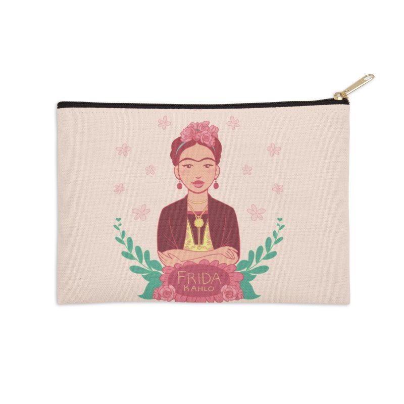 Frida Accessories Zip Pouch by satruntwins's Artist Shop