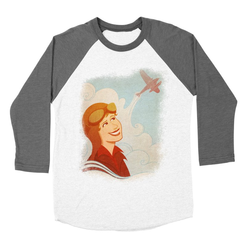 Amelia Men's Baseball Triblend T-Shirt by satruntwins's Artist Shop