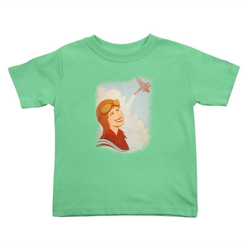 Amelia Kids Toddler T-Shirt by satruntwins's Artist Shop