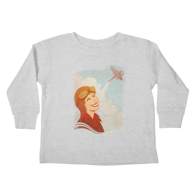 Amelia Kids Toddler Longsleeve T-Shirt by satruntwins's Artist Shop