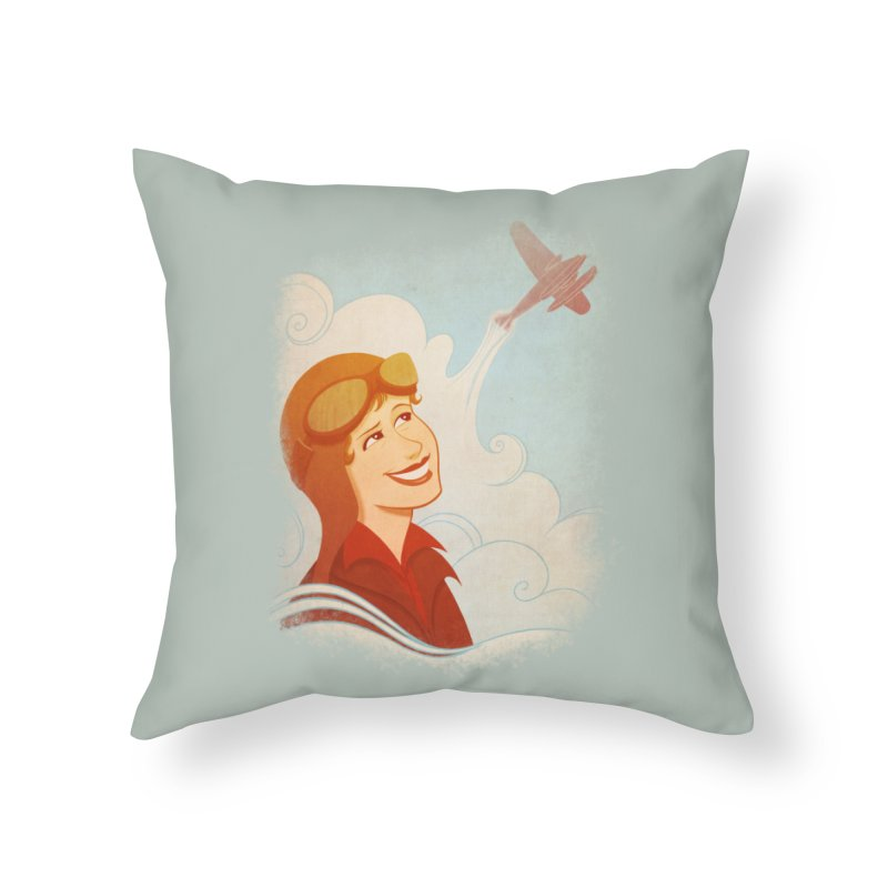 Amelia Home Throw Pillow by satruntwins's Artist Shop