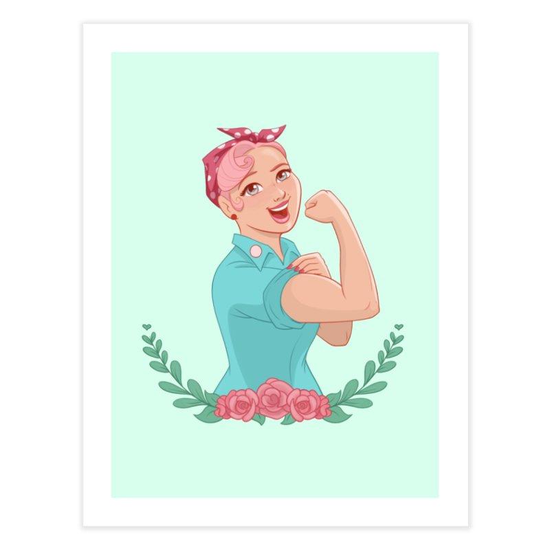 Pink Rosie Home Fine Art Print by satruntwins's Artist Shop