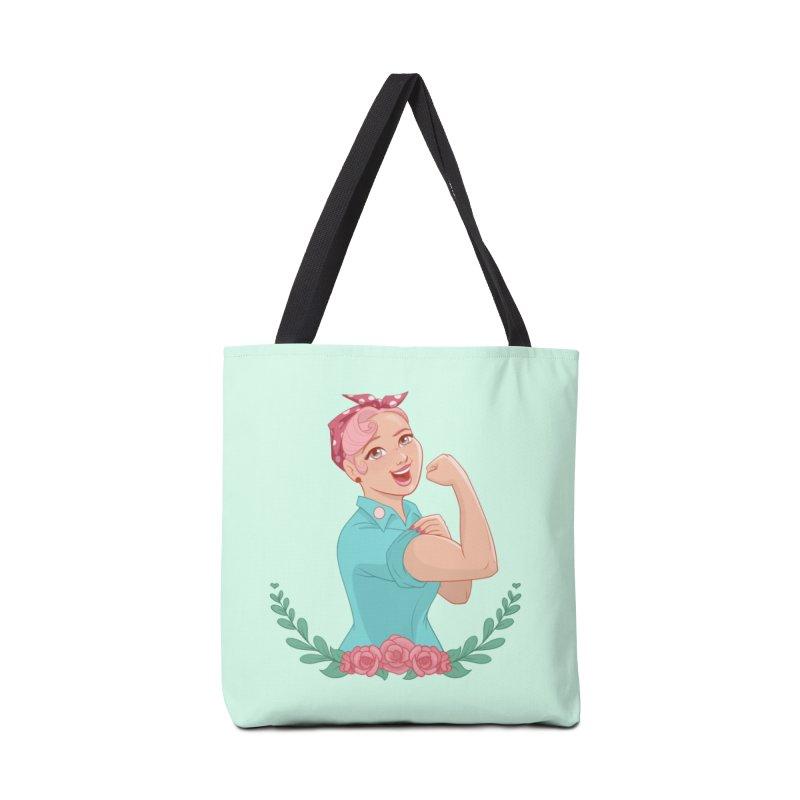 Pink Rosie Accessories Bag by satruntwins's Artist Shop