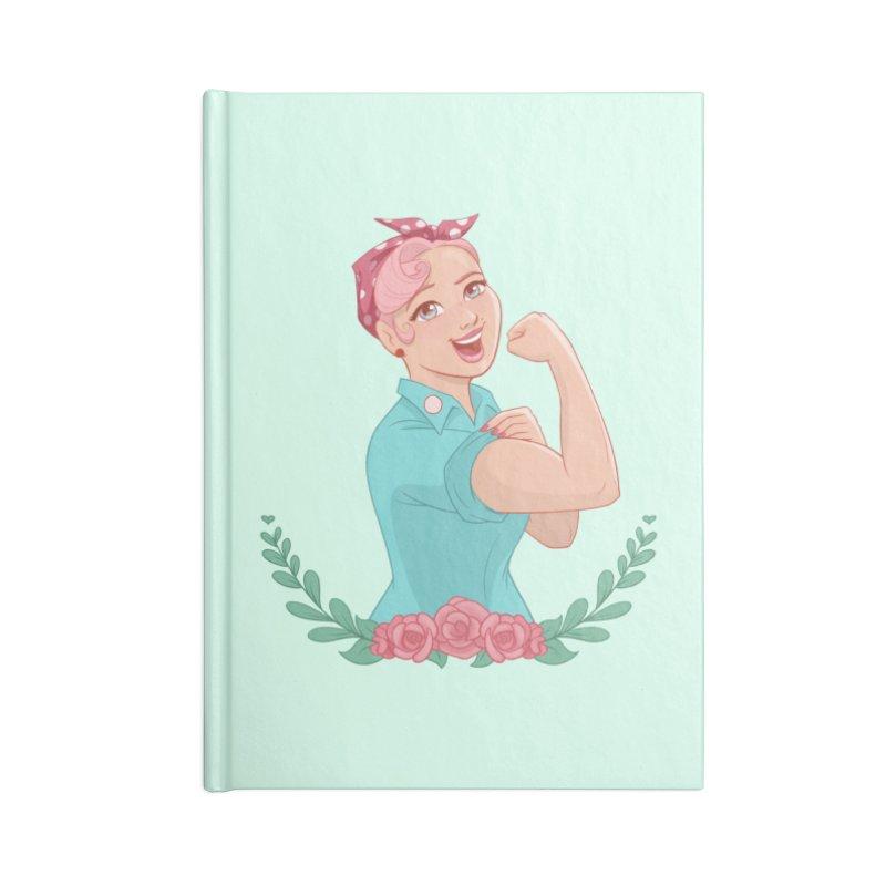 Pink Rosie Accessories Notebook by satruntwins's Artist Shop